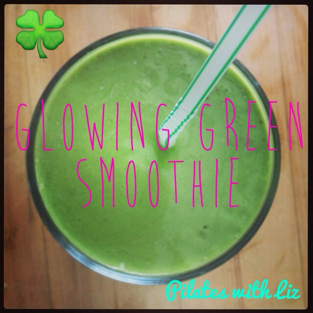 Bermuda Barre Pilates With Liz St. Patrick's Day Glowing Green Smoothie