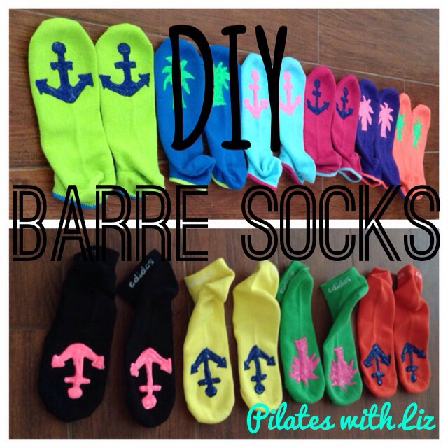 DIY Barre Socks Barre Pilates With Liz Laing Bermuda